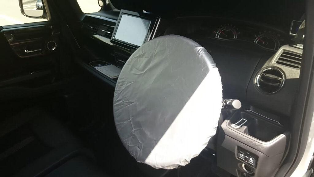 N-BOX フロントサンシェード ハンドルカバー