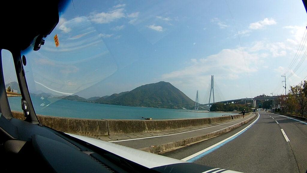 大三島から多々羅大橋を望む